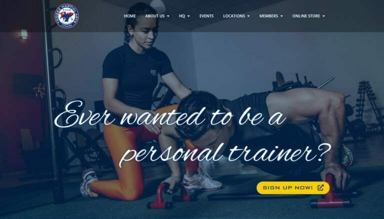 Toogee Martial Arts Personal Training Course Landing Page